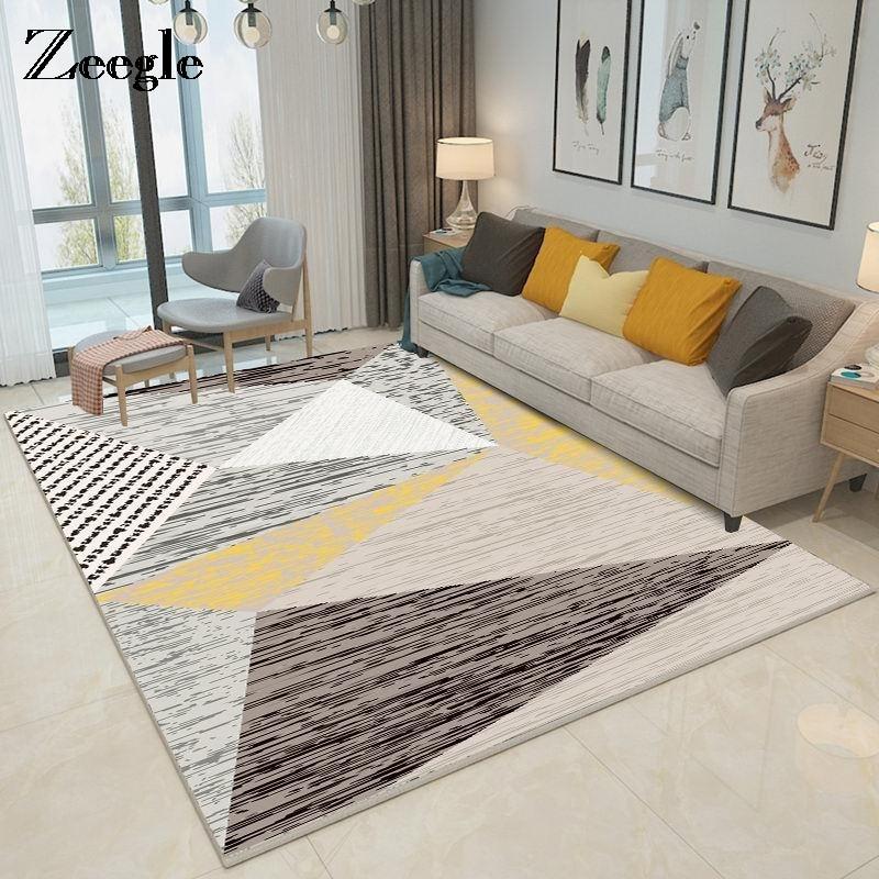 Zeegle Modern Living Room Carpets Anti Slip Bedroom Study Room Floor Mats Flannel Coffee Table Area Rug Soft Kids Room Carpets Carpet Aliexpress