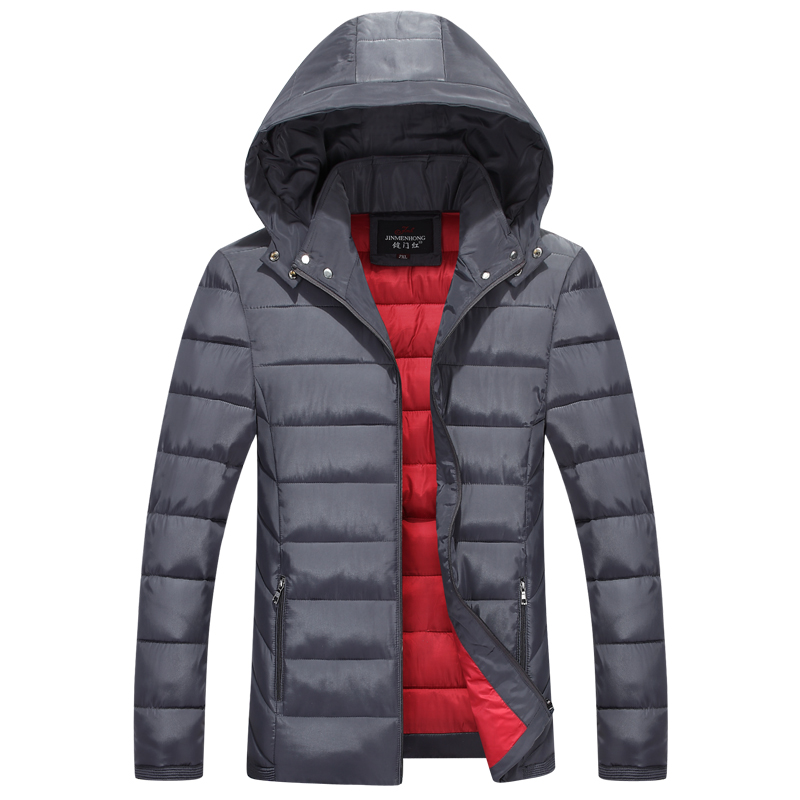 b new Winter Jacket Men Warm Down cotton Jacket Casual   Parka   Men padded Winter Jacket Casual Slim Hooded Winter Coat Men