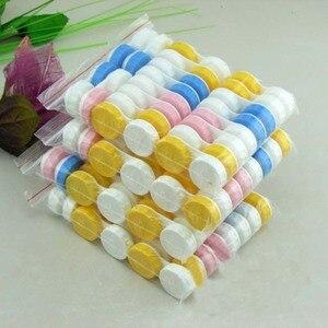 LIUSVENTINA портативный оптовый однотонный простой чехол для контактных линз для цветных линз, подарок для девочек, 100 шт./лот, разные цвета