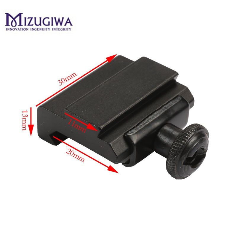 1PC Hunting Scope Mount 20mm to 11mm Weaver Picatinny To Dovetail Rail Adapter Base Mount Caza Long 30mm(China)