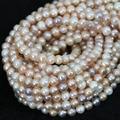 Multicolor 7-8mm naturales perlas de agua dulce al por mayor al por menor collar apto de la pulsera aprox granos flojos redondos 15 inch B1362