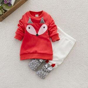 Image 3 - Çocuk giyim 2020 sonbahar kış Toddler kız giysileri noel kostüm kıyafet çocuklar eşofman kız giyim için 1 4 yıl