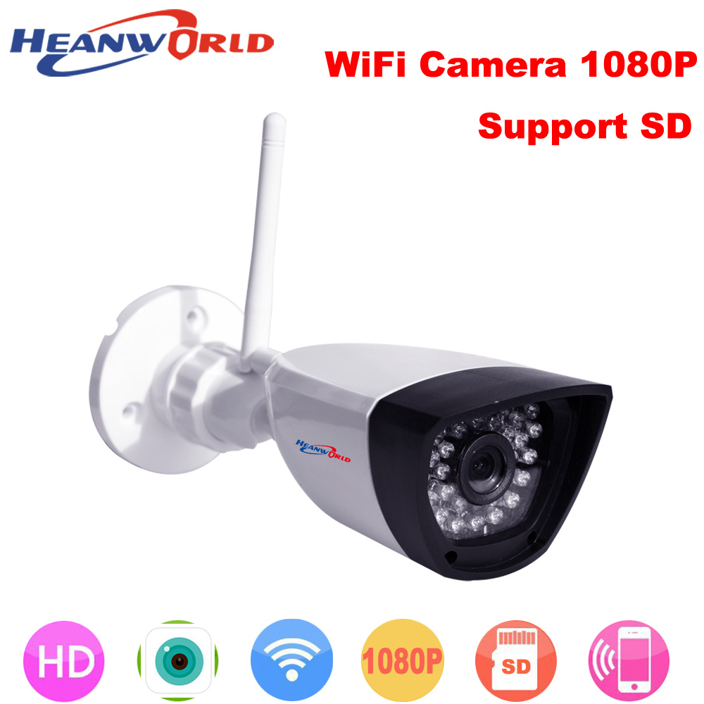 Security & Protection Heanworld 1080p Ip Camera Wifi Cctv Webcam Wireless Surveillance Security Camera 30led Support Smartphone View Sd Card Slot Cam Fixing Prices According To Quality Of Products