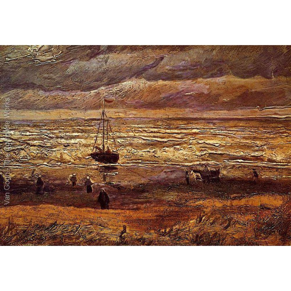 The Beach at Scheveningen by Vincent Van Gogh Reproduction oil painting Canvas art Handmade High qualityThe Beach at Scheveningen by Vincent Van Gogh Reproduction oil painting Canvas art Handmade High quality