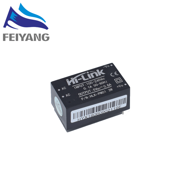 5 pcs HLK-PM01 AC-DC 220V to 5V Step-Down Power Supply Module Intelligent Household Switch Power Supply Module