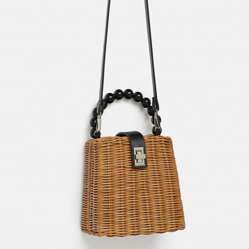 LJL-Bead Hand-Woven Straw Bag Women Small Tote Bags For Summer Travel Handle Bag Ladies Shoulder For GirlLJL-Bead Hand-Woven Straw Bag Women Small Tote Bags For Summer Travel Handle Bag Ladies Shoulder For Girl