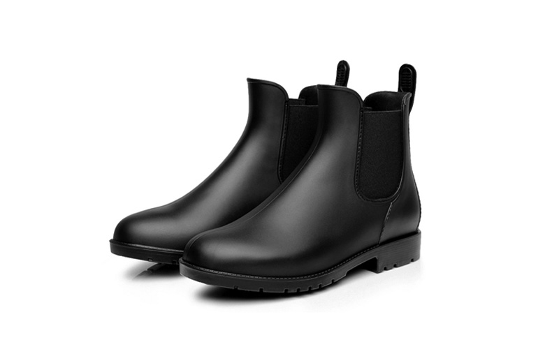 Men rubber rain boots fashion chelsea botas hombre casual slip-on waterproof ankle boots moccasins zapatos masculino 38-43 102 7