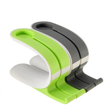 Silicone Green Grey Stand Charger Holder / Sleek Profile / Non-slip Rubber for Apple iwatch iPhone