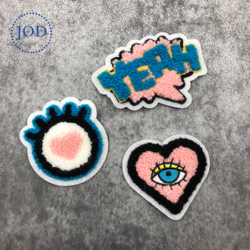 JOD 3PCS Cartoon Wool DIY Sew Patches for Clothing Children Decorative Embroidery Patch Applique Sewing Applications Stickers @ embroidery
