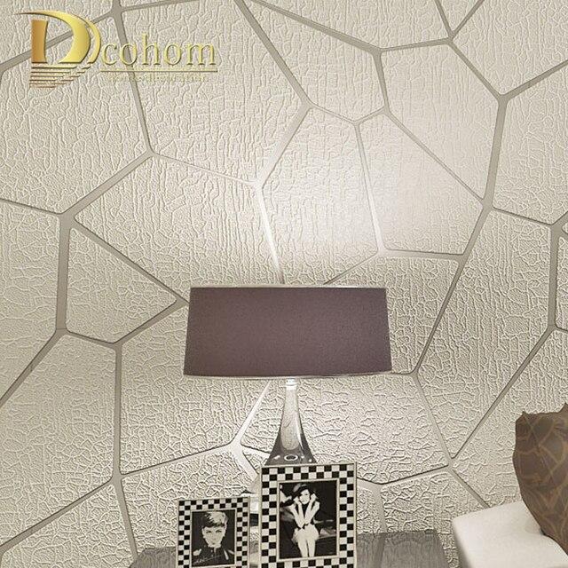 Толстая Флокированная Современная Геометрическая полосатая настенная бумага для стен гостиной диван тв задний план Декор домашний 3D обои рулоны