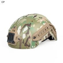 PPT CP AT DD черный загар Тактический шлем с креплением NVG и боковым Рельсом подходит 21,2 мм для страйкбола охоты спорта на открытом воздухе HS9-0019