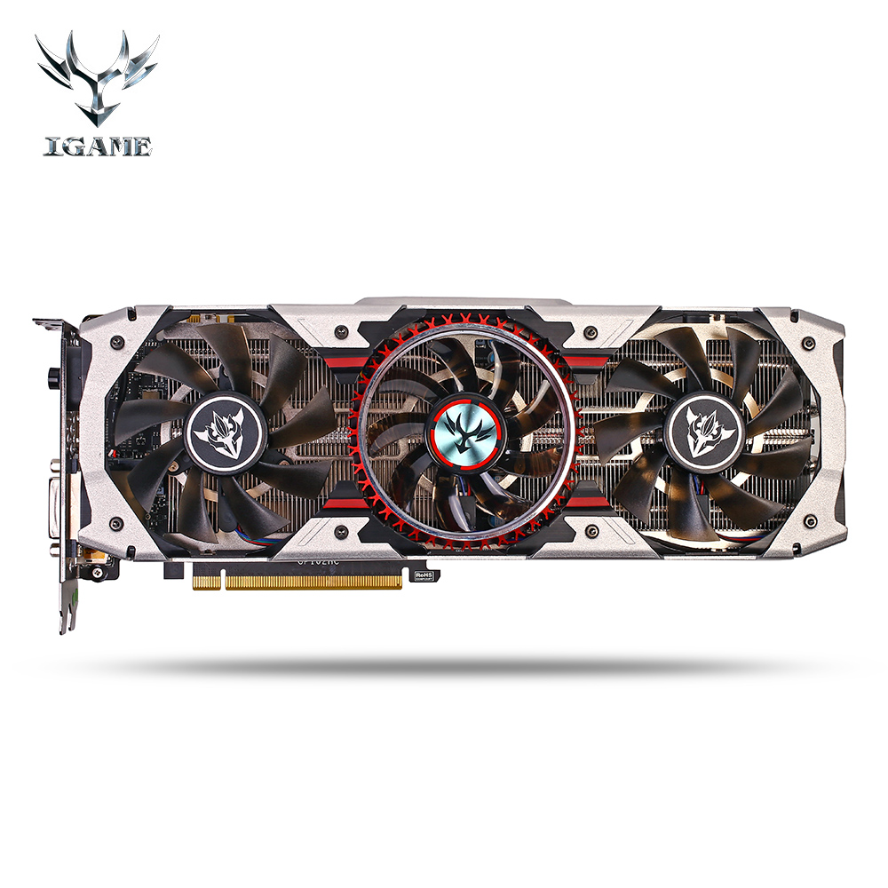Colorful iGame GTX1080Ti Vulcan AD 11GB 1708MHz 11GB GDDR5X 352bit SLI VR Ready Gaming Video Graphics Card цена