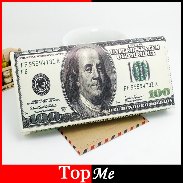 цена на TONUOX New arrival women Dollar Pattren wallets PU leather Hasp Long wallet lady money bag coin purse cards ID holder Wholesale