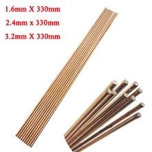 10pcs 1.6/2.4/3.2mm*330mm Red Copper Welding Brazing Wire Solder TIG Filler Rod A18 Steel Mild Steel