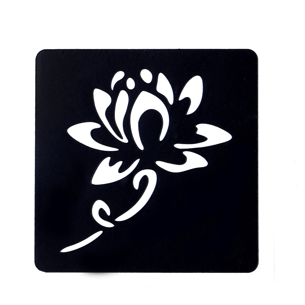 Blooming lotus designs women s - Aliexpress Com Buy 1pc Small Henna Indian Waterproof Tattoo Stencil Blooming Lotus Design Women Body Art Airbrush Paint Temporary Tatoo Sticker G02 From