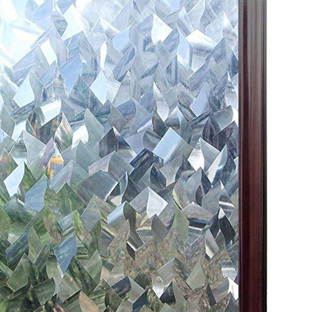 Multiple sizes available 3D Crystal Icicles Effect Decorative Window Film No Glue Static Cling Privacy Glass Cover
