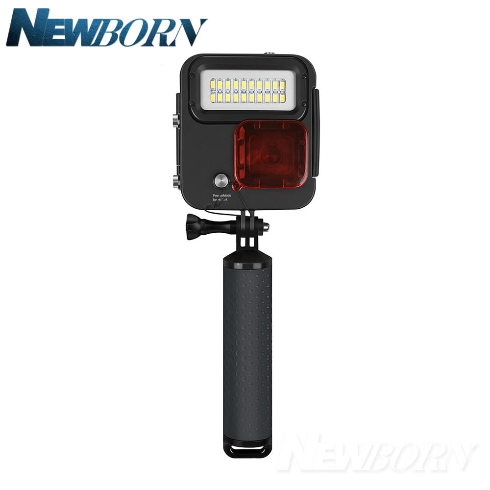 SHOOT 1000LM lumière LED de plongée étui étanche pour GoPro Hero 7 6 5 noir 4 3 + argent caméra d'action avec accessoire pour Go Pro 7 6