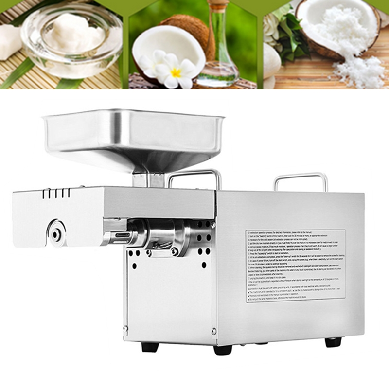 Automatic Cocoa Beans Seed oil Press machine, Cold Oil Press, Oil Expeller,Stainless Steel Mini Screw Oil Machine For Home mini automatic oil press machine commercial home oil extractor expeller presser hot and cold press seed oil making machine zf