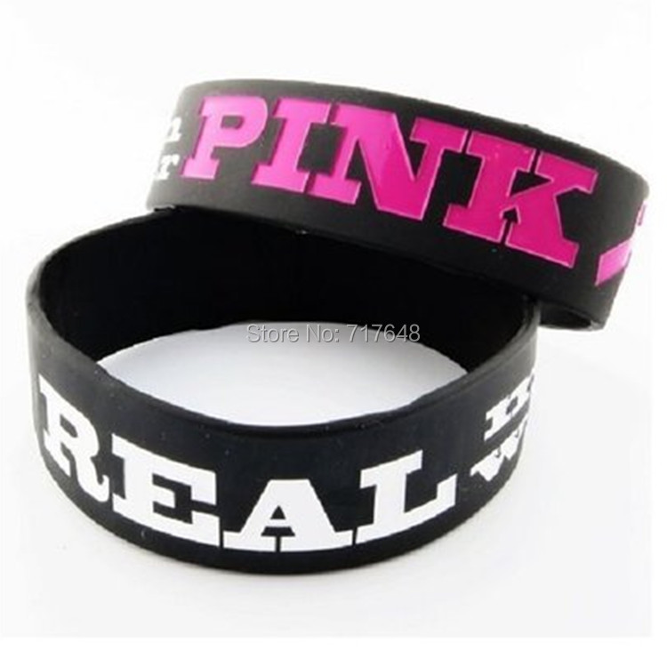 200pcs One Inch Mens Breast Cancer Awareness Real Men Wear