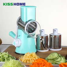 Manual Vegetable Cutter Slicer Kitchen Accessories Multifunctional Round Mandoline Potato Cheese Gadgets