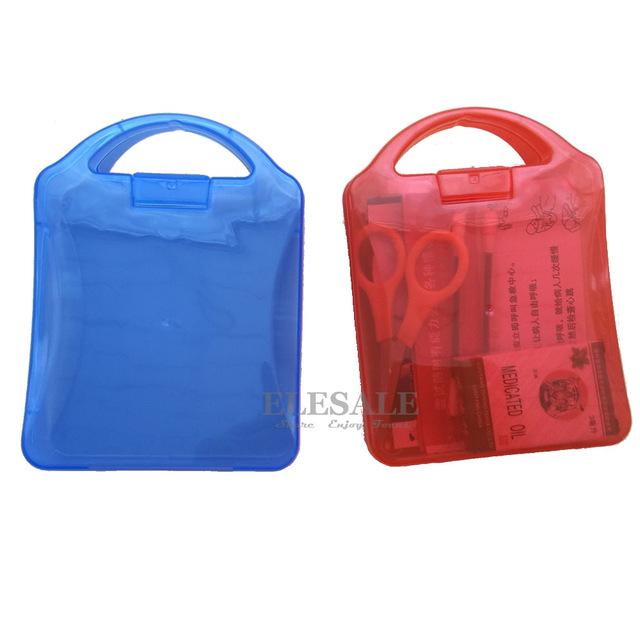 Mini Portable First Aid Box Emergency Kits Color PP Empty Case For Home Travel Outdoor Camp Daily Care First Aid Kit Accessories