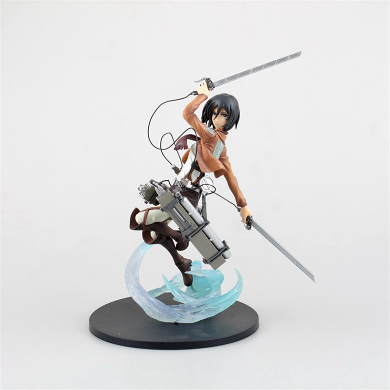 23CM Mikasa Ackerman Action Figure Classic Collection PVC Attack on Titan Animation Model Figures Toys Shingeki No Kyojin JR007 потребительские товары shingeki kyojin