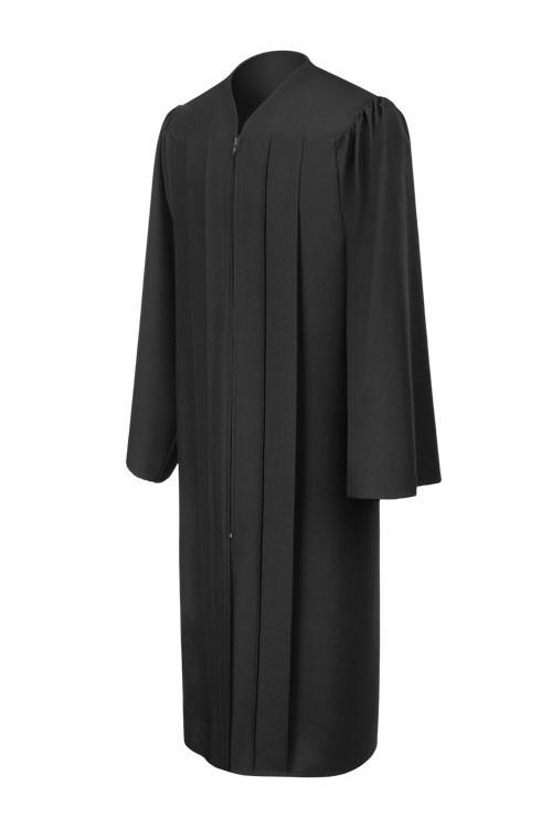 matte-black-bachelor-graduation-gown_Be.fore