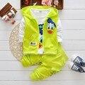 2016 Meninos Roupas Ternos Dos Desenhos Animados Donald Pato Do Bebê Crianças Meninos Outerwear Jaqueta Moletom Com Capuz Conjuntos de Roupas Esportivas Meninos Ternos Do Bebê
