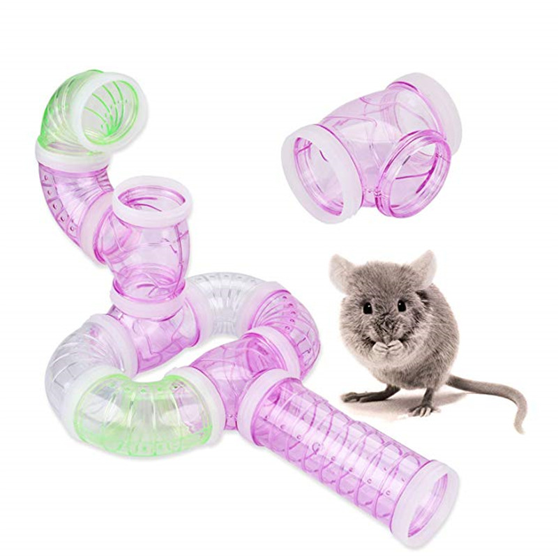 2018Hot Sell Multi-Style Hamster Tunnel Fittings Transparent Acrylic Cage Hamster Accessories Cheap Small Pet Toys