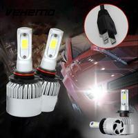 2017 1Pair H7 COB 72W Car Headlight 8000LM Bright LED Fog Kit Car Beam Bulbs COB