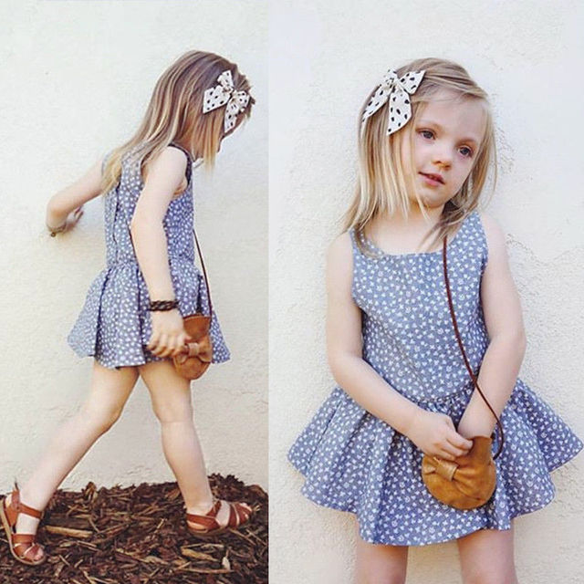2017 babies kids girls floral dress baby girl stylish pageant party