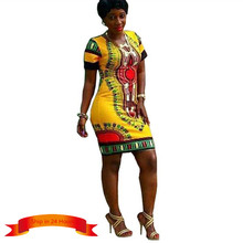 Sale Special Offer Natural Summer Dress Women Traditional African Tribal Print Dashiki Dresses Bodycon Club Party
