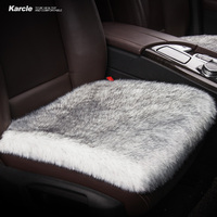 Karcle 1PCS Car Seat Covers 6CM Long Plush Breathable Seat Cushion Car Styling Super Warm For