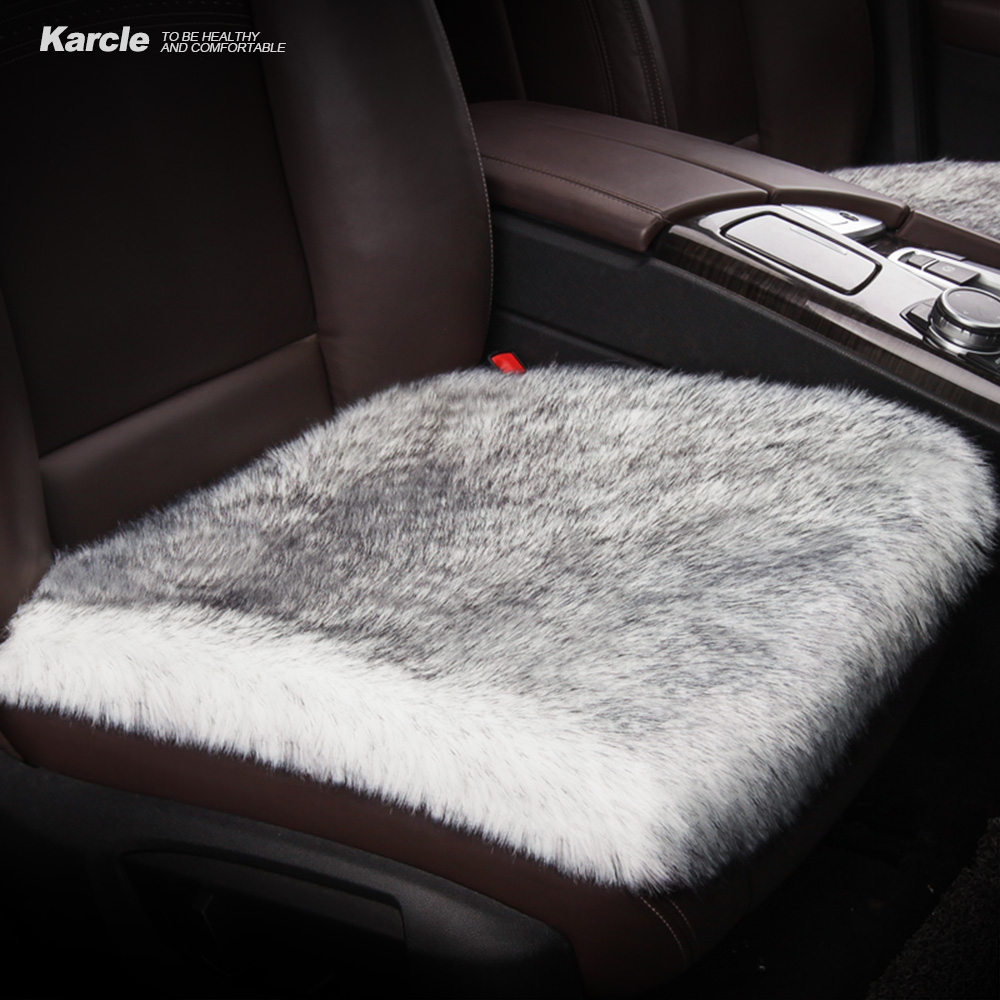 цена на Karcle 1PCS Car Seat Covers 6CM Long Plush Breathable Seat Cushion Car Styling Super Warm for Winter Non-slip Auto Accessories