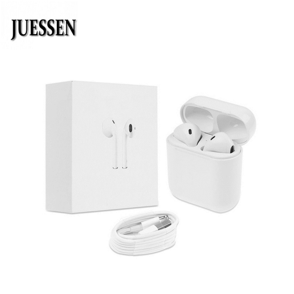 JUESSEN IFANS Wireless Double Headphone TWS Bluetooth Ecouteur for iPhone X Wireless Earphones Headset Phone Mini oordopjes