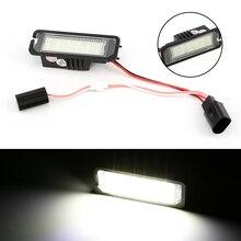 Luz trasera de luz led de matrícula Canbus para coche, accesorio de estilismo para VW Golf 5 6 7 Passat Beetle Polo 9N UP Scirocco, 2 uds.