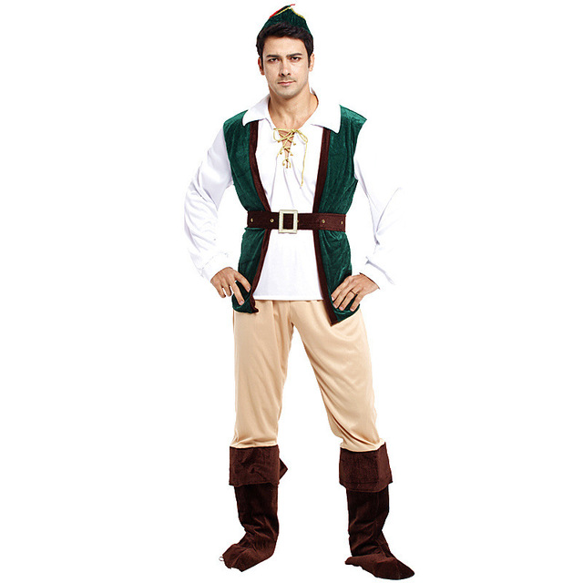 Men Halloween Robin Hood Costumes Pirate Robber Cosplay Bandit Role play Carnival Purim Christmas parade Masquerade  sc 1 st  AliExpress.com & Men Halloween Robin Hood Costumes Pirate Robber Cosplay Bandit Role ...