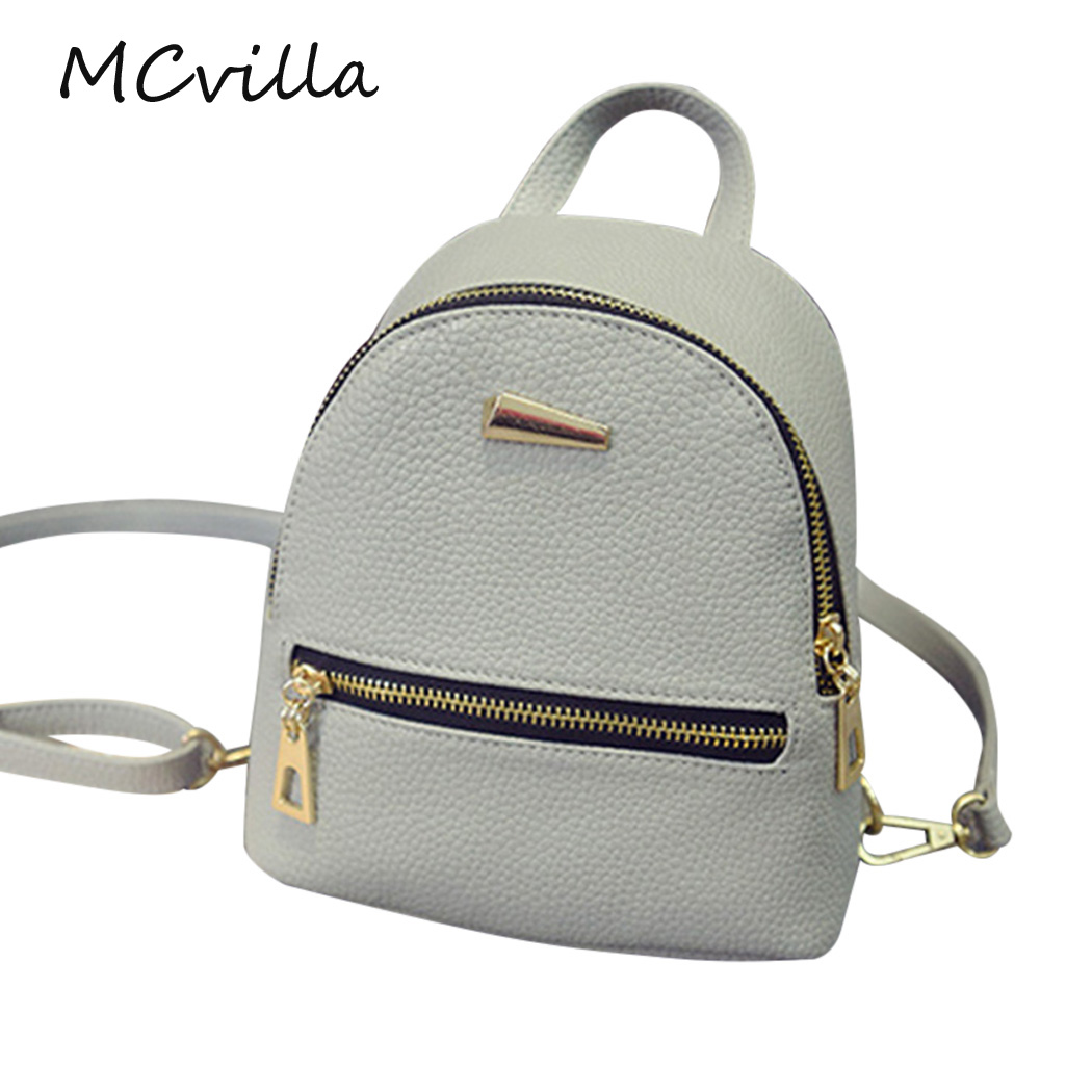 New Fashion Women Leather Backpack Solid School Rucksack College Shoulder Satchel Travel Bag Brand Mcvilla girsl kid backpack ladies boy shoulder school student bag teenagers fashion shoulder travel college rucksack mochila escolar new
