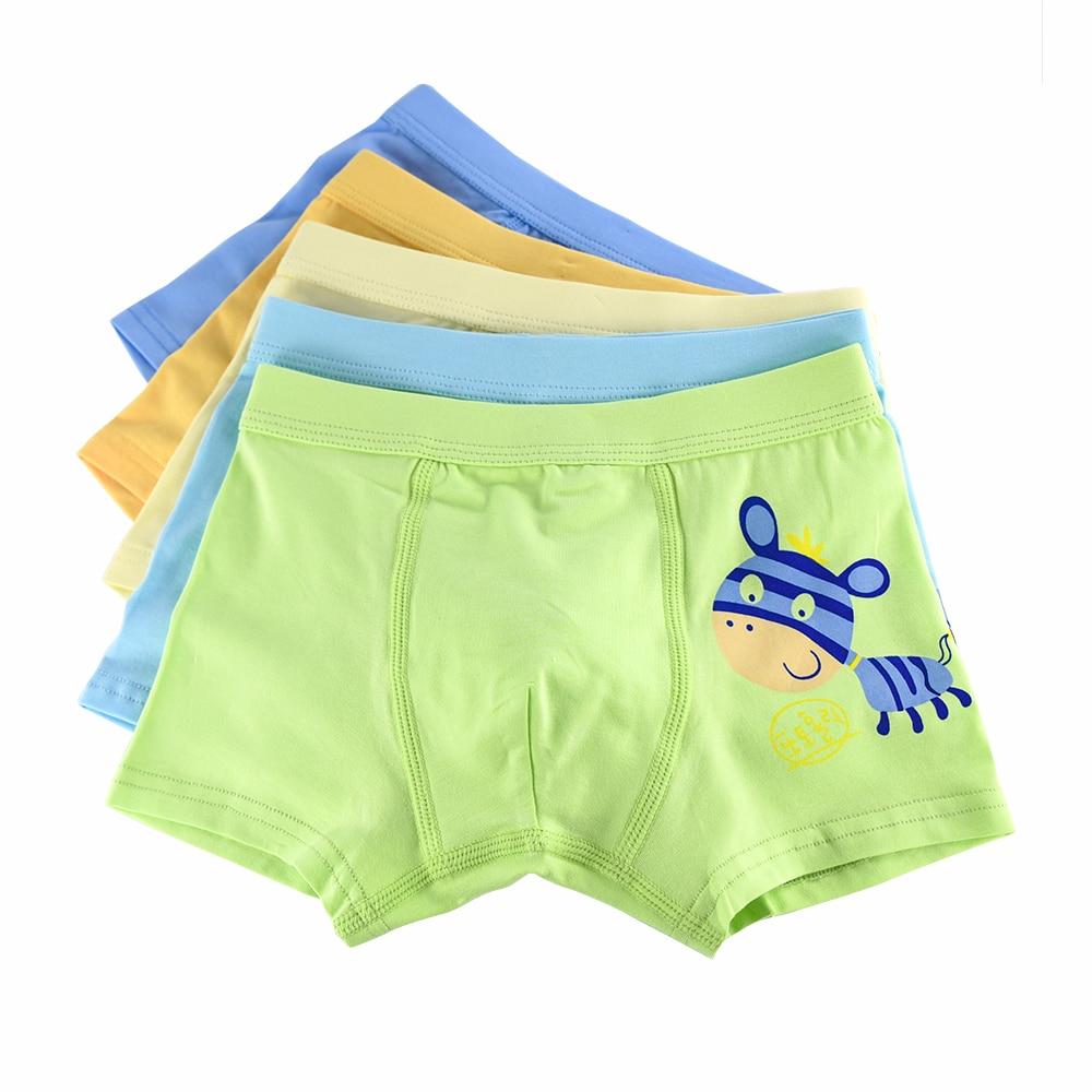 e3abbe98f Kids boys underwear soft organic cotton baby children s underwear boxer  briefs 5 pcs lot cartoon animal boy short panties 2-12t