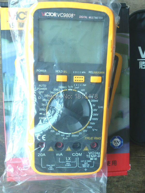 VICTOR VC980+ Digital Multimeter Handheld Autoranging Electronic Instrument with Large LCD Display victor vc980  t rms digital multimeter