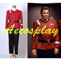 Custom Made Star Trek II-VI Wrath OF Khan starfleet Traje Terno Uniforme Outfit Halloween Traje Cosplay Personalizado