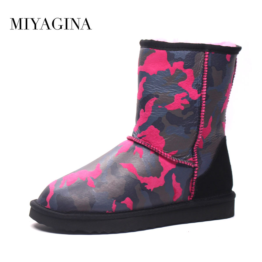 Hot sell 2018 New Brand Women Shoes 100% Genuine Sheepskin Women boots Real Wool Snow Boots Lady's Winter Shoes 2017 new brand winter 100