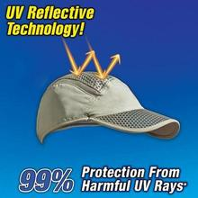 Cooling Cool Cap Summer Sun UV Protection Sunscreen Ice Beach Outdoor Fishing Air Cold Wind Breathe Hat