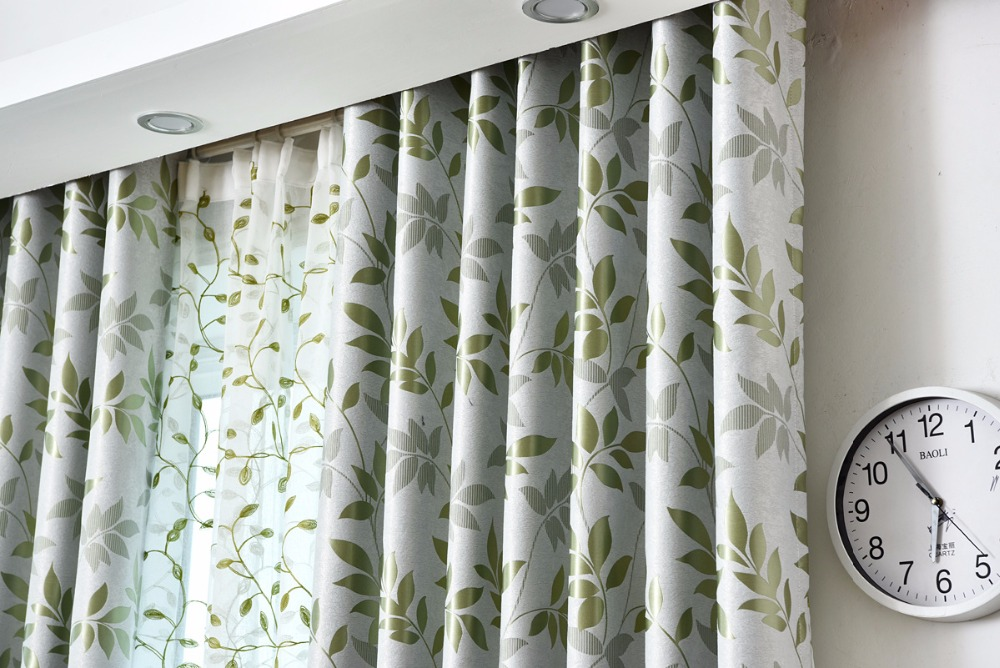 Slaapkamer Gordijnen Verduisterend : Dubbele gedrukt gordijnen borduren tulle voor woonkamer slaapkamer