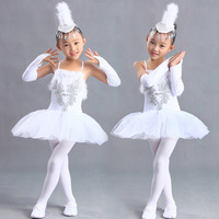 Gymnastics Leotards Kids Baby Dance Dress White Color Tutu Dress Dance Costumes Ballet Dancewear 3 15Y