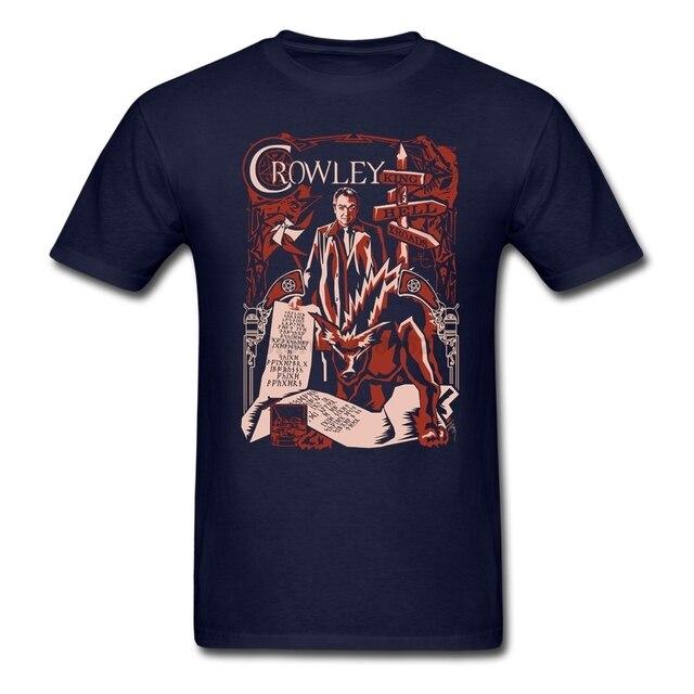 Ajuste dos homens camisa do Negócio t Empresa Imprime Em Camisetas com O  Crowley Xilogravura de 465e2ef93fddb
