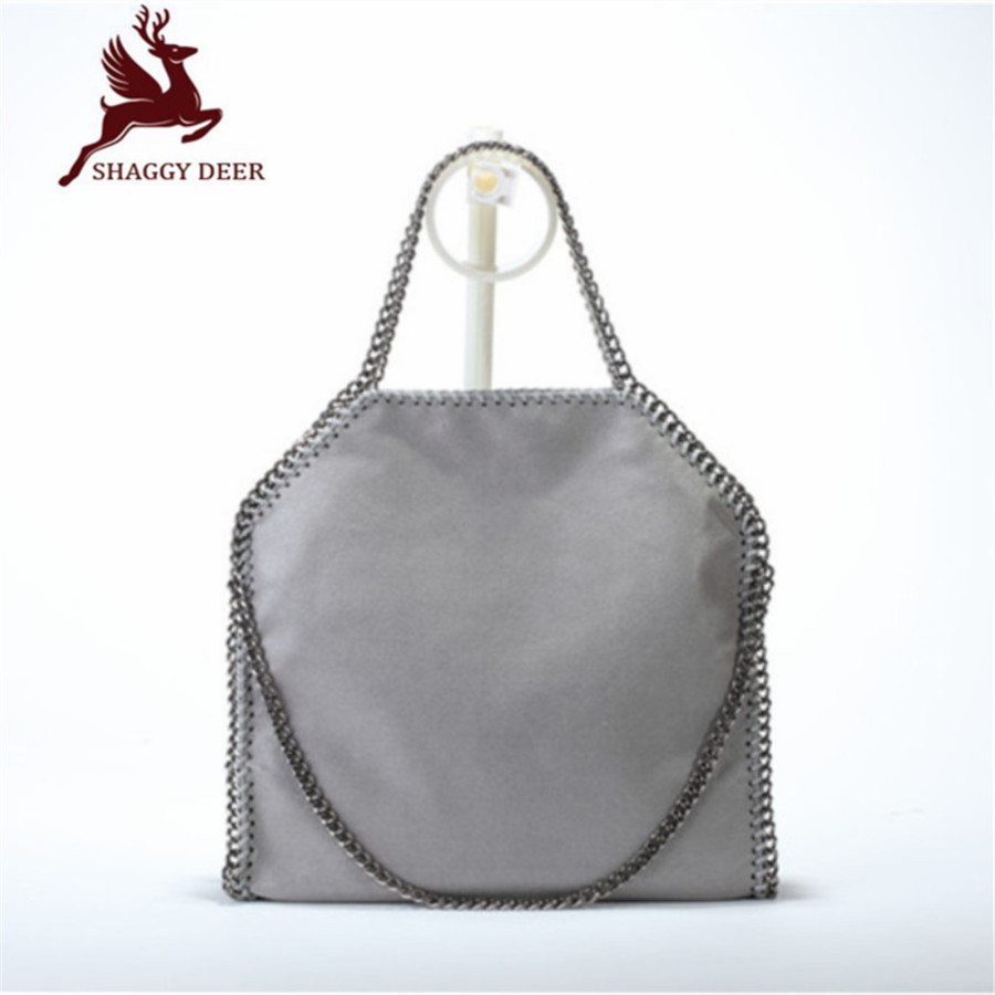 New Shaggy Deer Brand Luxury Quality Stella 3 Chain Handbag Fold-Over Classical PVC Large Capacity  Shopping Tote  37cm mini gray shaggy deer pvc quilted chain bag with cover real picture