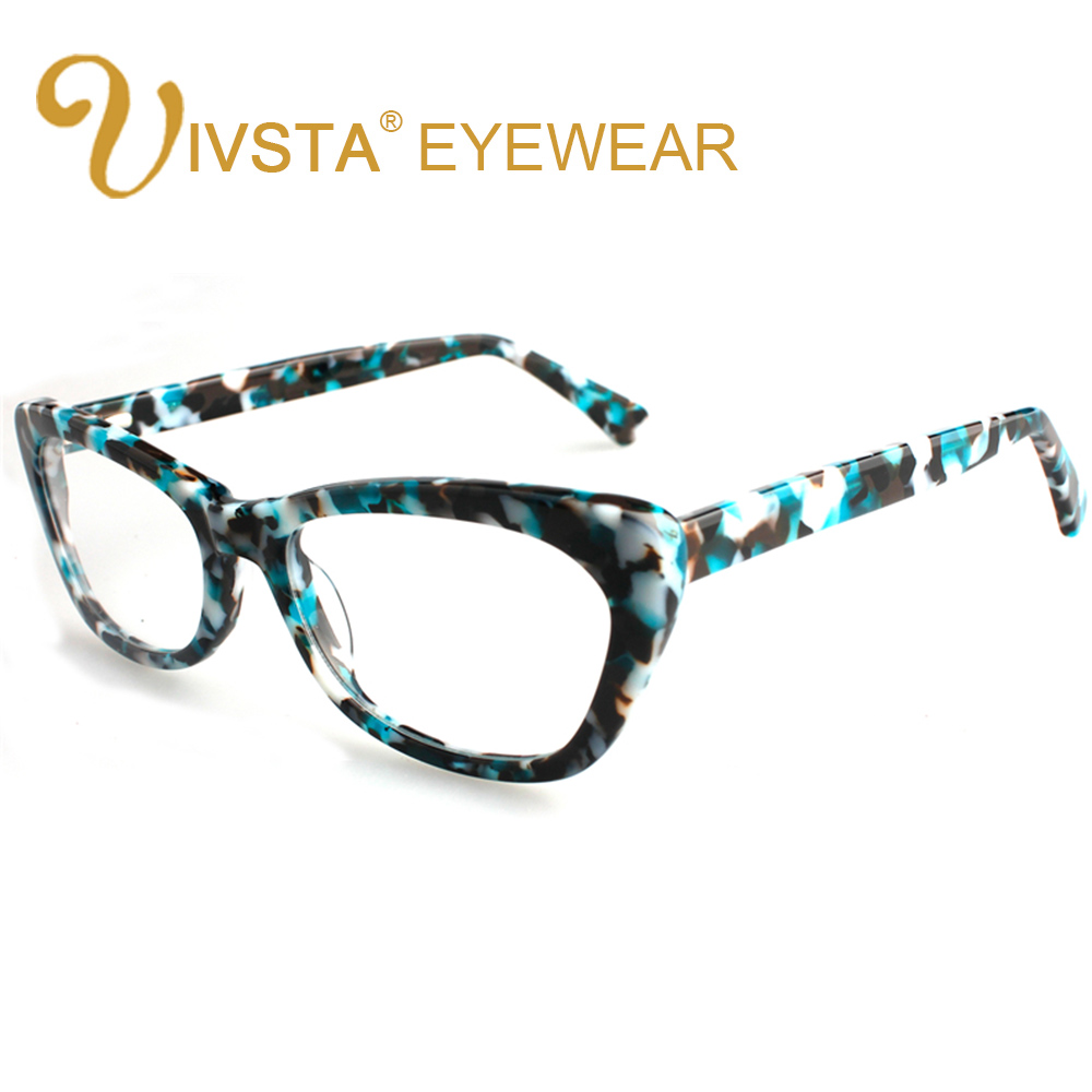 ivsta women glasses frames branded design handmade acetate optical cat eye butterfly demi tortoise myopia lense