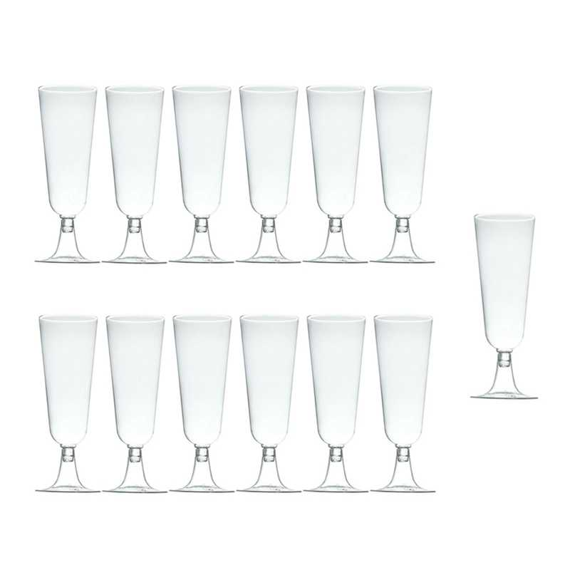60Pcs 150Ml Disposable Hard Plastic Champagne Glass Red Wine Glass Goblet Wine Glass Party Festival Event Supplies