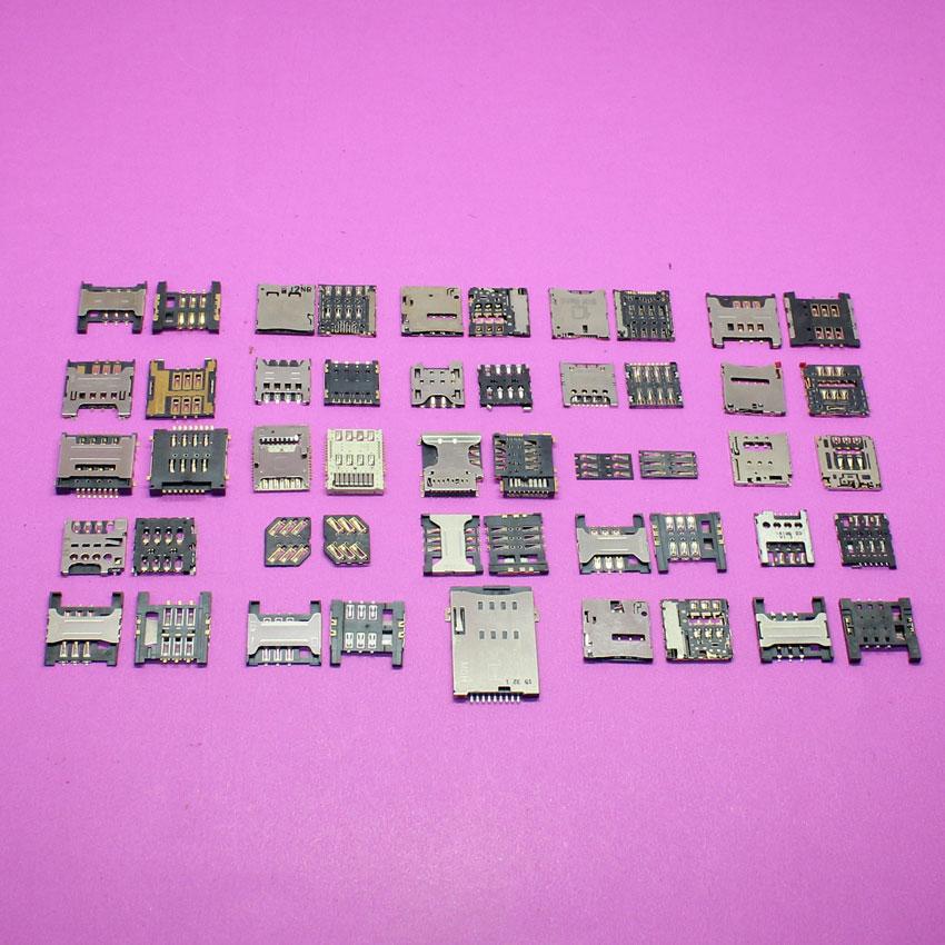 bilder für 50 STÜCKE, 25 modelle, neue sim-karte sockel reader stecker für samsung s4/ASUS K004/HTC One S Ones Z510e 8 S/LG/sony/...